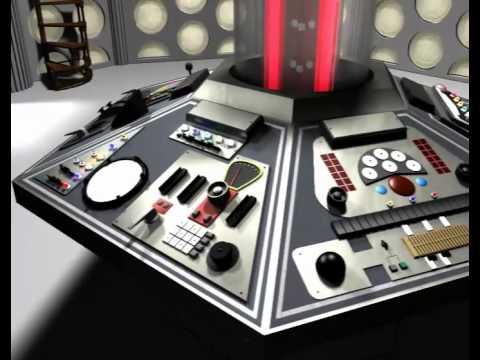 Doctor Who TARDIS Console Room 1982 walkthrough CGI animation