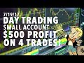 LIVE Day Trading Small Account $500 PROFIT 4 TRADES!