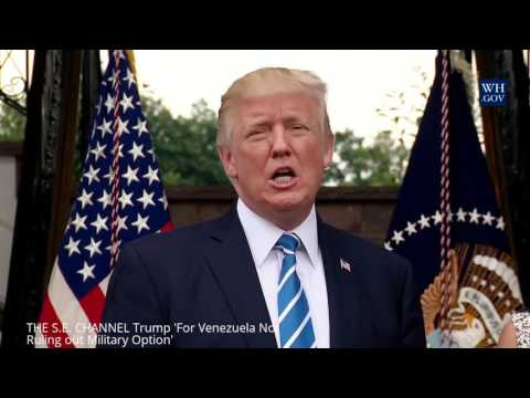 Trump 'For Venezuela..Not Ruling out Military Option'