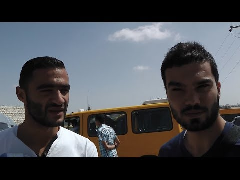 Muslims show their Hatred for Jews in Israel the Holy Land of God