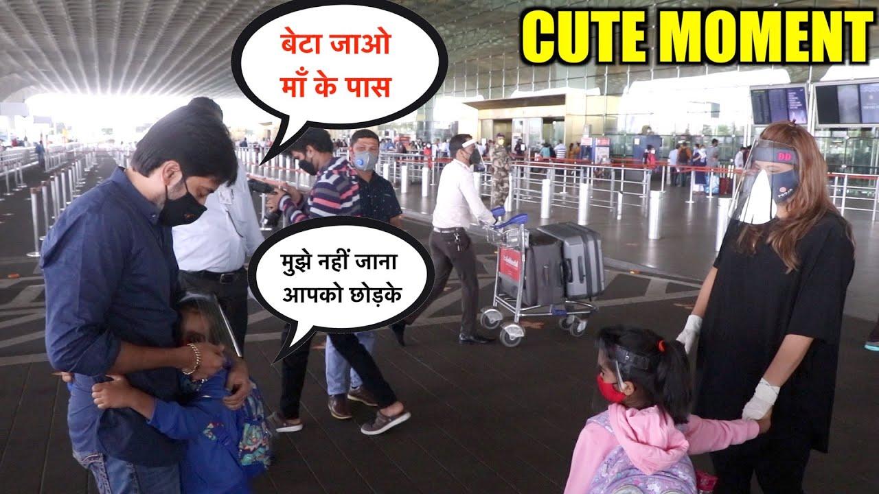 SWEET VIDEO | Ritesh Deshmukh Brother Dheeraj Son Vansh Don't Ready To Leave His Papa