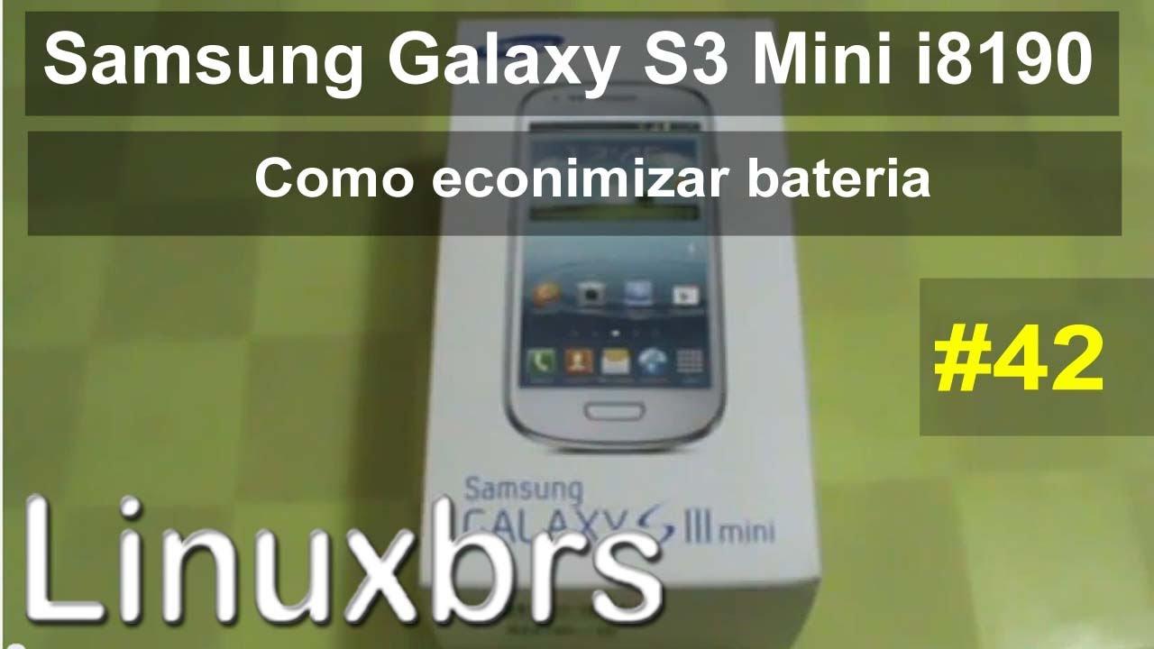 Samsung Galaxy S3 Mini i8190 - Dica de como economizar bateria e APP's em  segundo plano - PT-BR