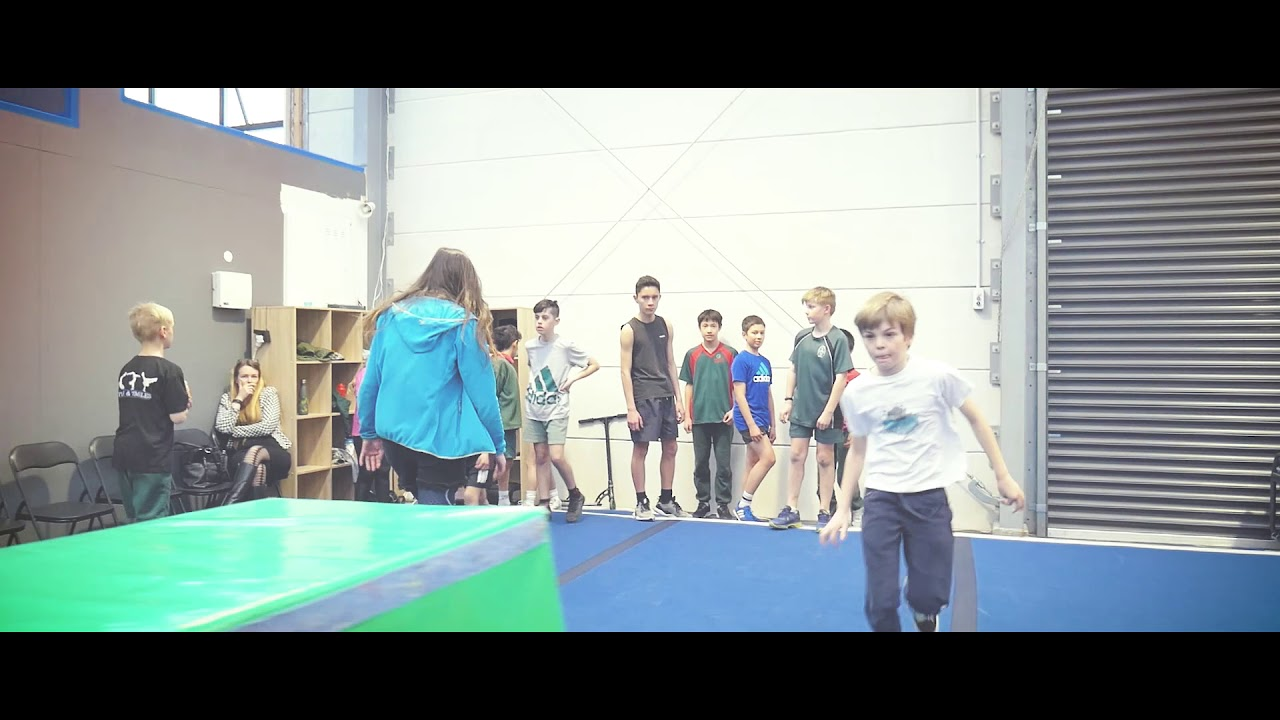 Advanced Parkour class at Flips & Tumbles Christchurch