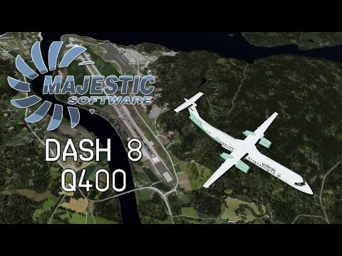 Majestic Dash-8 Q400 - ORBX FTX Norway, FS2Crew, AoN, Wideroe, Full Flight ENCN/ENVA (P3D Tutorial)