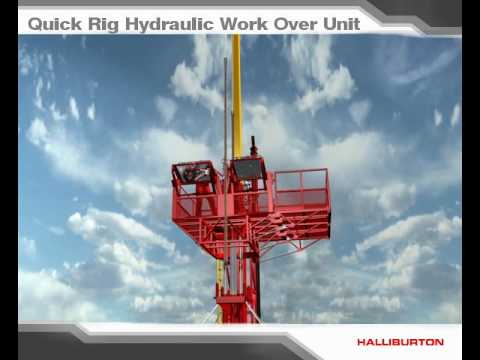 Quick Rig Hydraulic Work Over Unit _ Rig Assisted With Crane