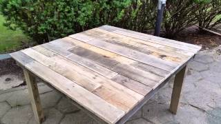 DIY giveaways & tutorials- DIY Pallet Table - 100 Pallet Wood Table Mesa de Madera de Palets