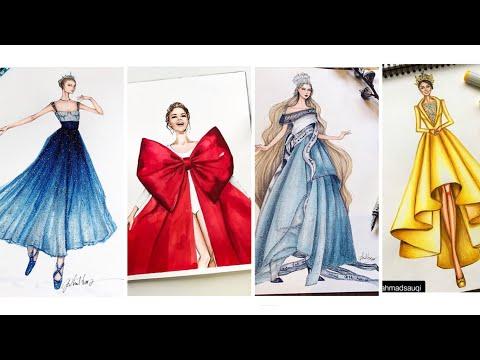 Thiết Kế Thời Trang/Bản Thiết Kế Váy Dạ Hội Đẹp/Design Dress Beautiful💋