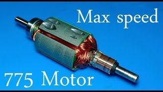 How to upgrade 775 DC motor to max speed 5666 RPM to 13000 RPM