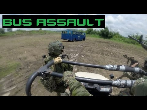 Airsoft Bus Hostage Rescue | Milsim Philippines: Kontor 2016 Military Simulations