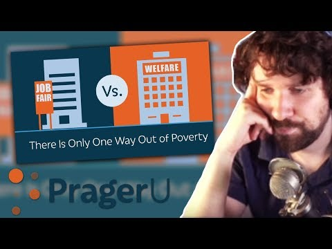 """Destiny reacts to """"There Is Only One Way Out of Poverty"""" by PragerU"""