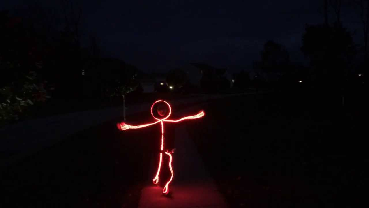 led stick figure halloween costume youtube - Halloween Led Costume