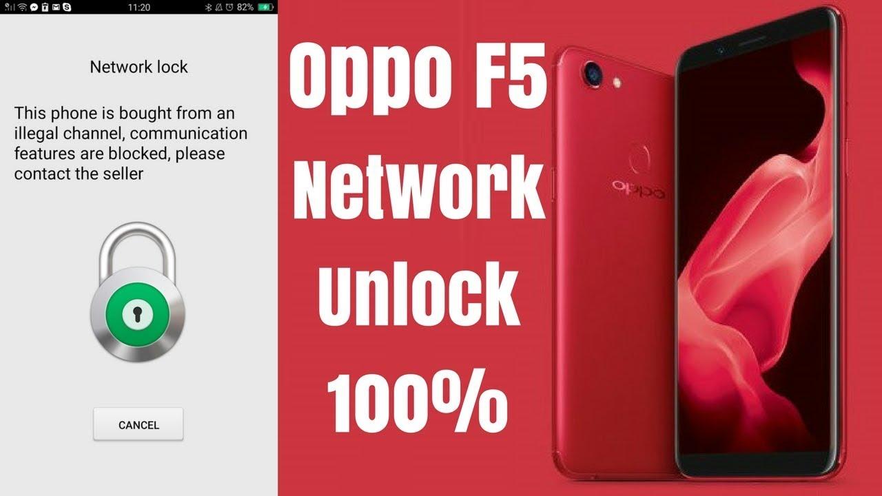 Oppo F5 Network Unlock