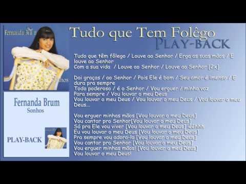 Tudo que Tem Folego [Playback] Fernanda Brum - CD