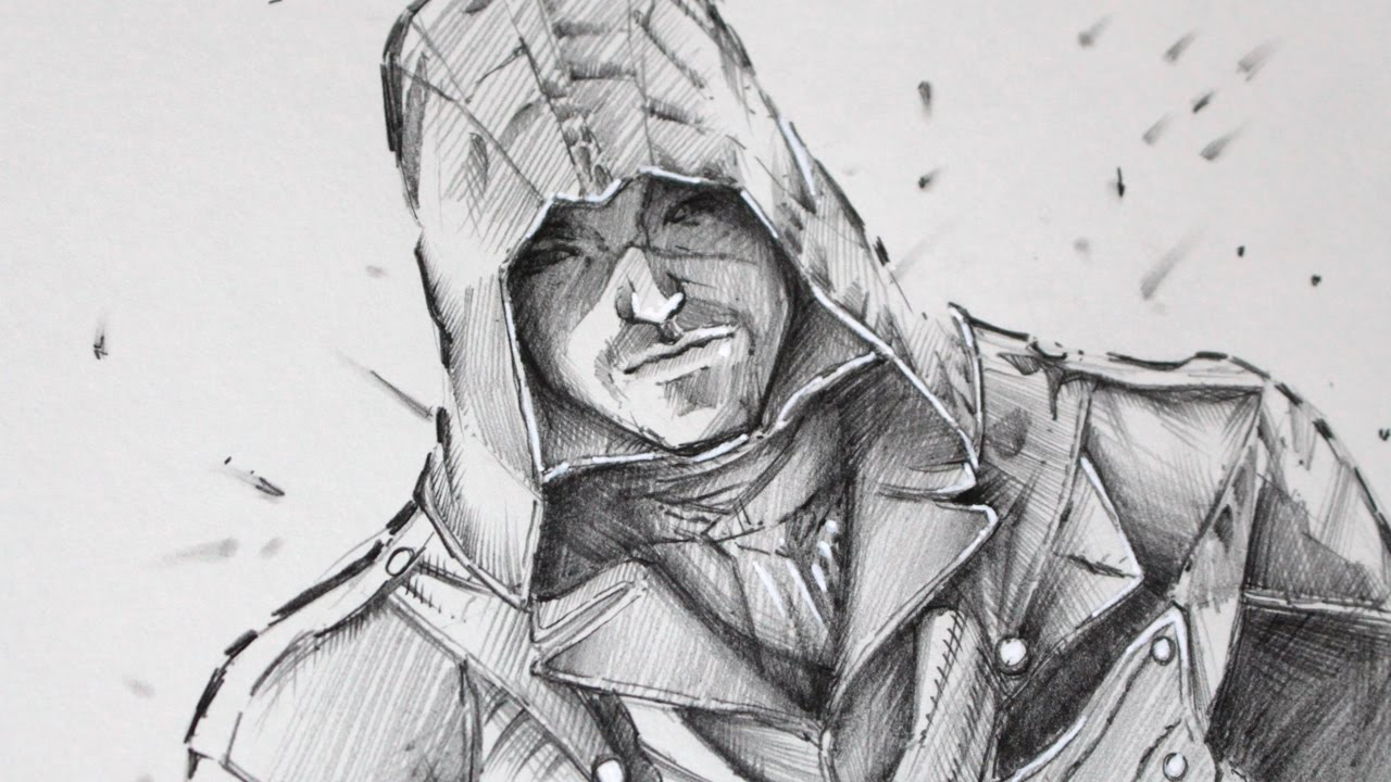 Drawing Assassins Creed Unity Graphite Youtube
