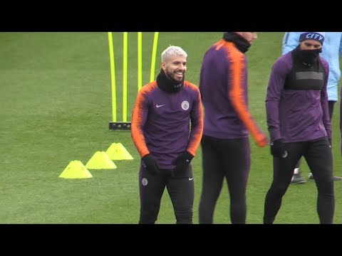 Manchester City Train Ahead Of Schalke Champions League Fixture