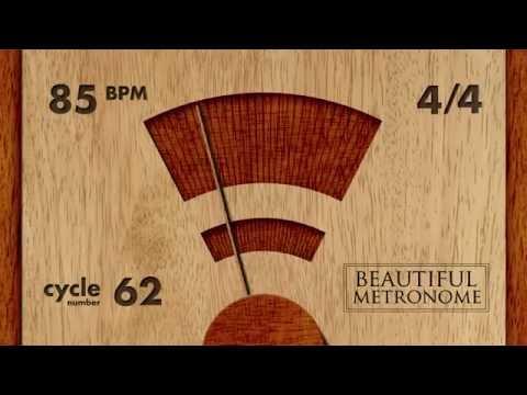 85 BPM 4/4 Wood Metronome HD