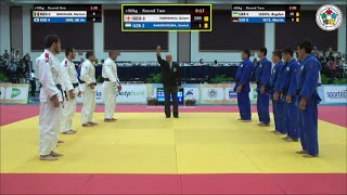Georgia vs Uzbekistan - Judo World Junior Championship Teams 2014
