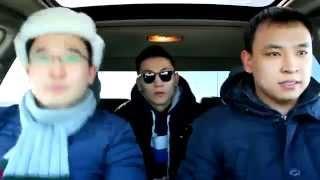 Прикол в машине казахи))))