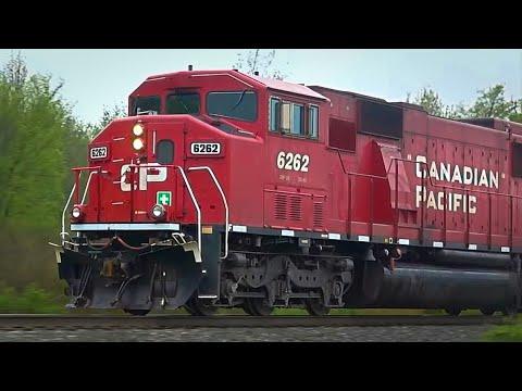 Union Pacific Oil Train Meets CSX Trash Train + Canadian Pacific SD 60 Triclops