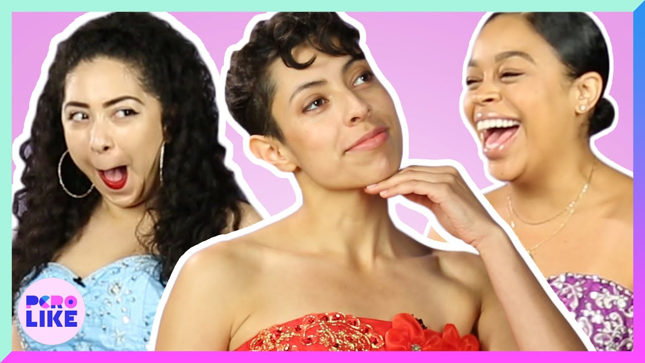 Latinas Try $50 Quinceañera Dresses From Amazon - YouTube