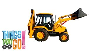 Backhoe Loader: Construction Trucks For Children. Kids Videos. Kindergarten | Preschool Learning.