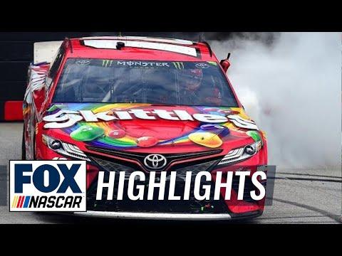 Kyle Busch scores his eighth win at Bristol Motor Speedway | NASCAR on FOX HIGHLIGHTS
