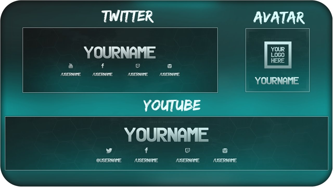 Free Youtube Banner + Twitter Header Template PSD + Direct Download ...