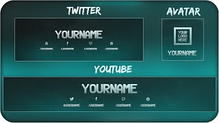 Free Youtube Banner + Twitter Header Template Psd + Direct Download Link -  New 2015!