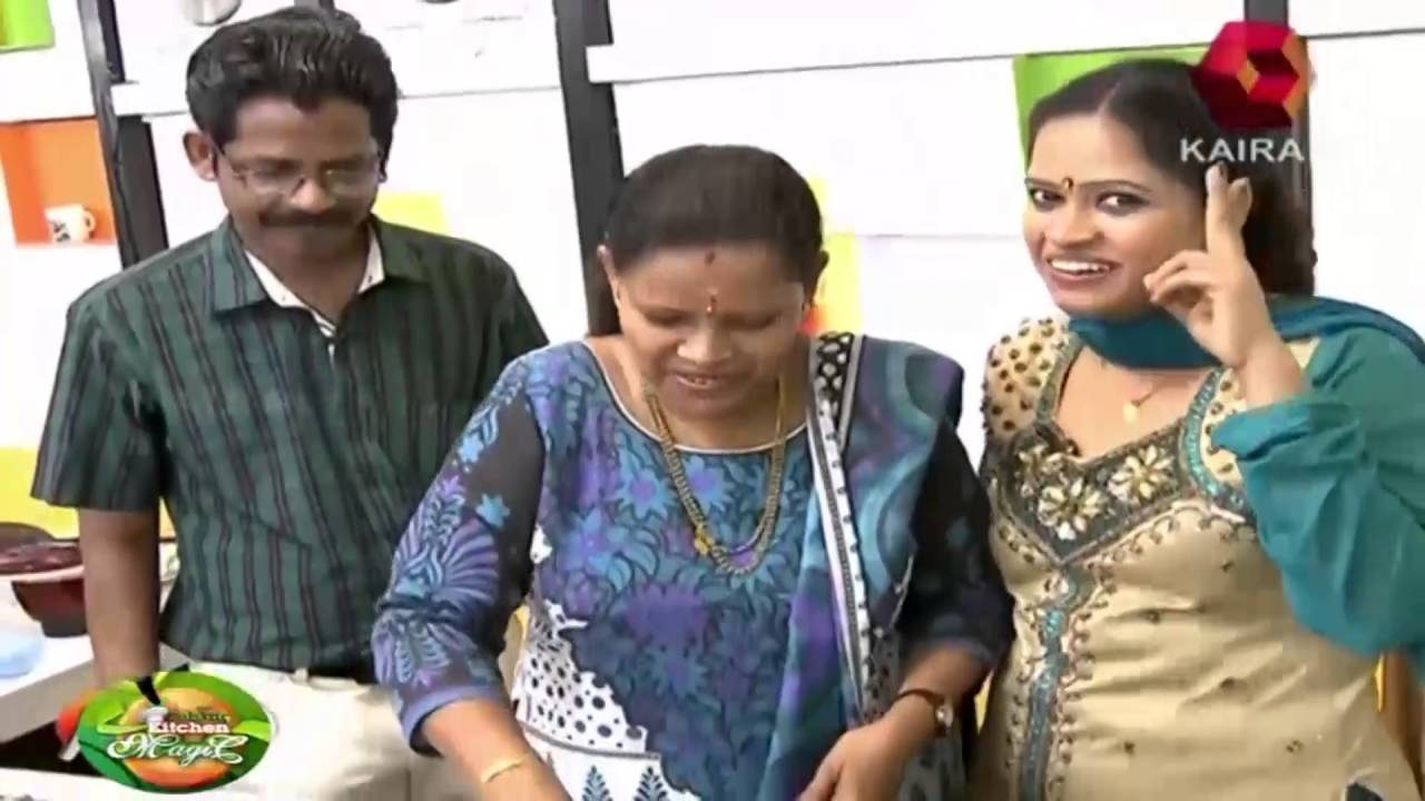Celebrity Kitchen Magic   Kalabhavan Sariga prepare pathiri
