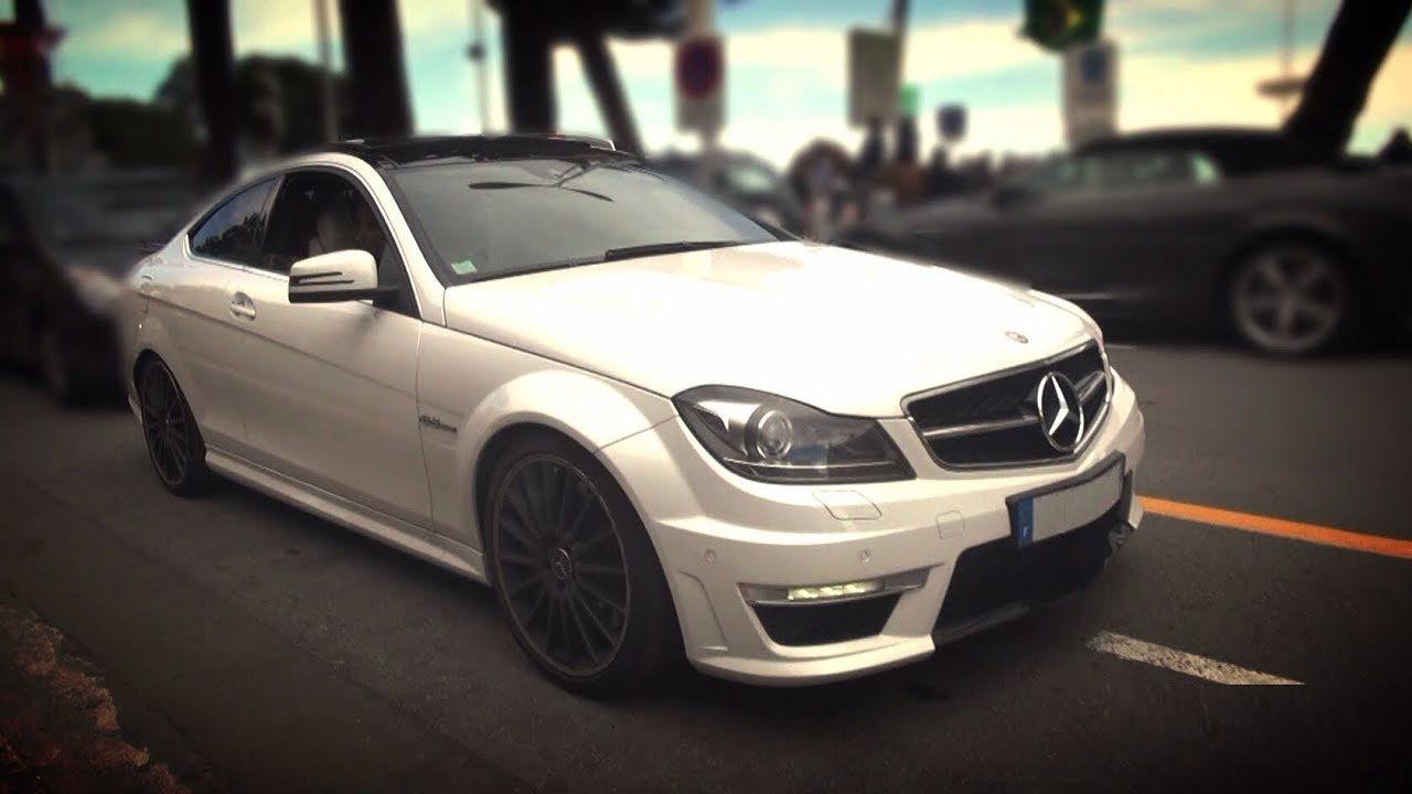 Mercedes C63 Amg Coupe Raspy Exhaust Sounds And