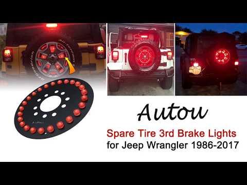 Jeep Wrangler Spare Tire Brake Light JK JKU 2007-2017 Jeep Accessories Lights for Spare Tire FIREBUG Jeep 3rd Brake Light LED Jeep LED Brake Light Jeep Spare Tire Brake Light