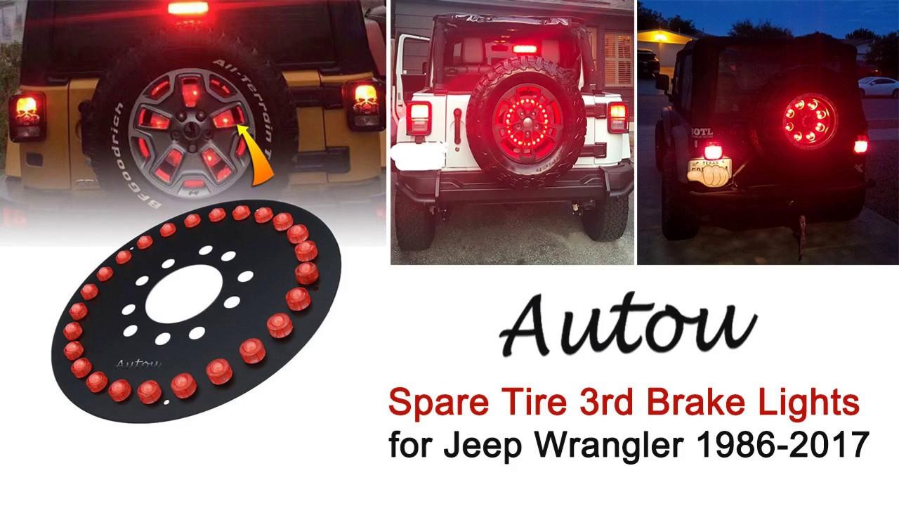 Jeep Wrangler Jk Jku Tj Spare Tire Brake Light