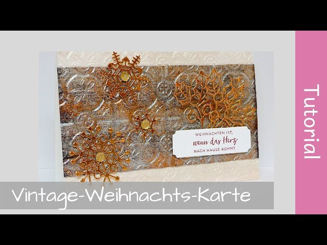 Vintage Weihnachtskarten-Set - Christmas cards - Tutorial - Stampin' Up! - YouTube
