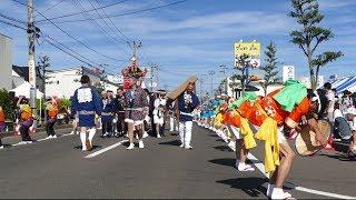 花笠音頭と神輿渡御@いわぬま市民夏まつり