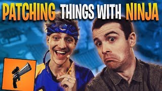 Fortnite - Patching things with Ninja! | DrLupo