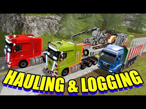 Farming Simulator 2017 Mods - Hauling Equipment and Logging