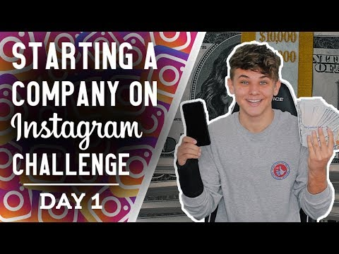 Starting a Company on Instagram Challenge | Day 1