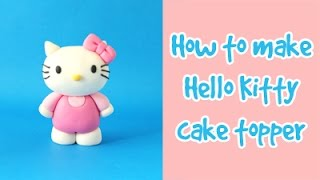 How to make Hello Kitty cake topper tutorial / Jak zrobić figurkę Hello Kitty z masy cukrowej