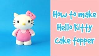 How to make Hello Kitty cake topper tutorial / Jak zrobić figurkę Hello Kitty z masy cukrowej