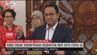 Anies Desak Kementerian Kesehatan Beri Data Covid-19