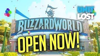 Overwatch - Blizzard World OPEN NOW! New Map LIVE on PTR!