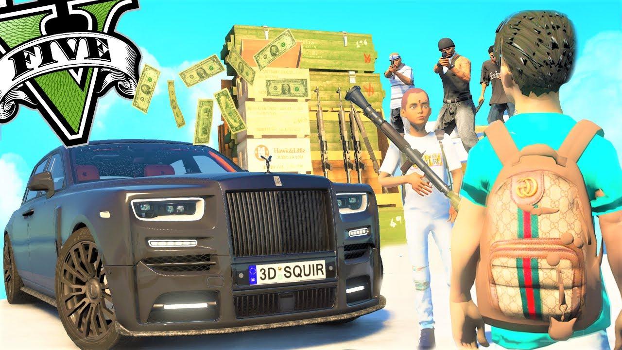 EL NIÑO MAFIA DE GTA 5 - CON SU PRIMO TRAFICAN ARMAS EPICO! GTAV REAL LIFE MOD |GamerMachineWorld