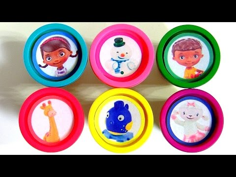 Learn Colors With Play Doh Surprise Doc McStuffins And Her Talking Toys Chilly Lambie Stuffy