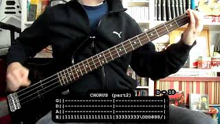 ANGELES DEL INFIERNO - Maldito sea tu nombre (bass cover w/ Tabs)