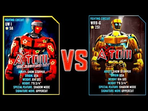 REAL STEEL WRB ATOM VS ATOM GOLD New Robots UPDATE (Живая сталь)