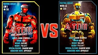 REAL STEEL WRB ATOM VS ATOM GOLD New Robots UPDATE (Живая сталь)