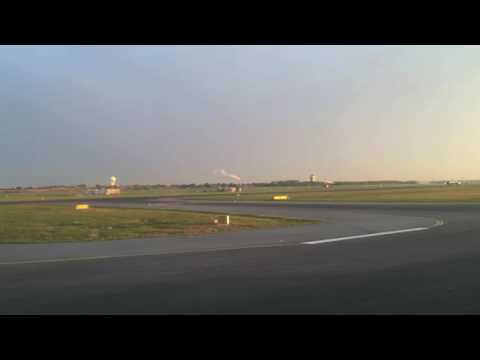 Departure from Copenhagen while the sun sets. (Time Lapse)