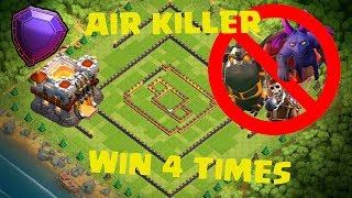 NEW TH11 TROPHY BASE FOR LEGEND DEFENSE AGAINS AIR | Clash of Clans defense