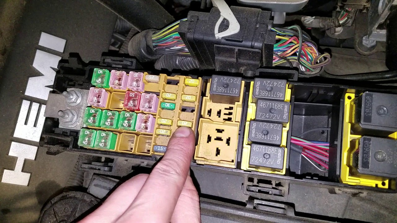 2008 jeep commander fuse box location jeep commander starter  fuel pump fuse and relay youtube  jeep commander starter  fuel pump fuse