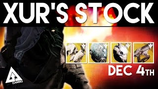 Destiny Xur December 4th - Xur's Location & Stat Roll Suggestions | Destiny The Taken King Exotics
